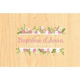 Faire-part de Baptême Fleurs des Champs Baptême pas cher