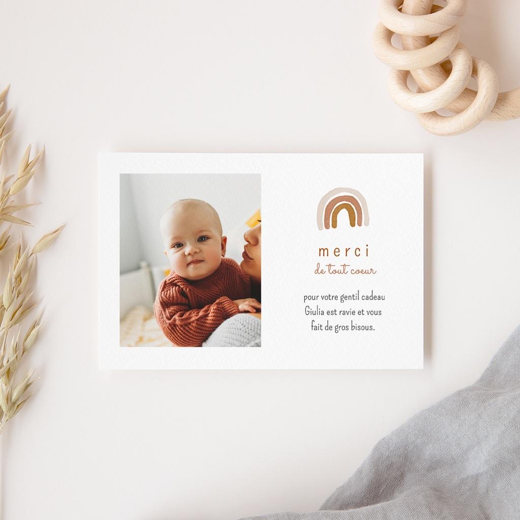 Carte de Remerciement Naissance Arc-en-ciel, Photo gratuit