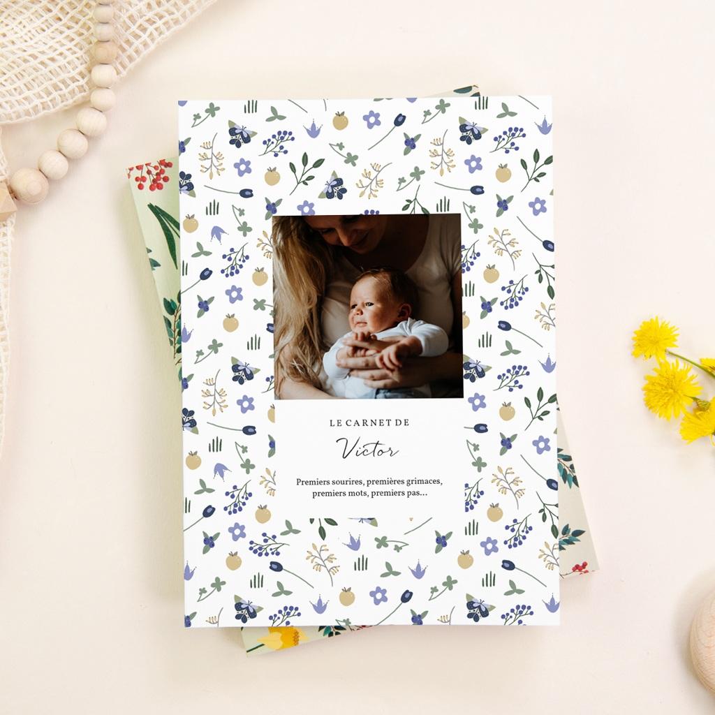 Carnet de Note Fleurs et trèfles bleus, Souple A5 gratuit