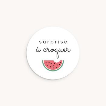 Sticker Enveloppe Naissance Tutti Frutti, ø 4,5 cm personnalisé