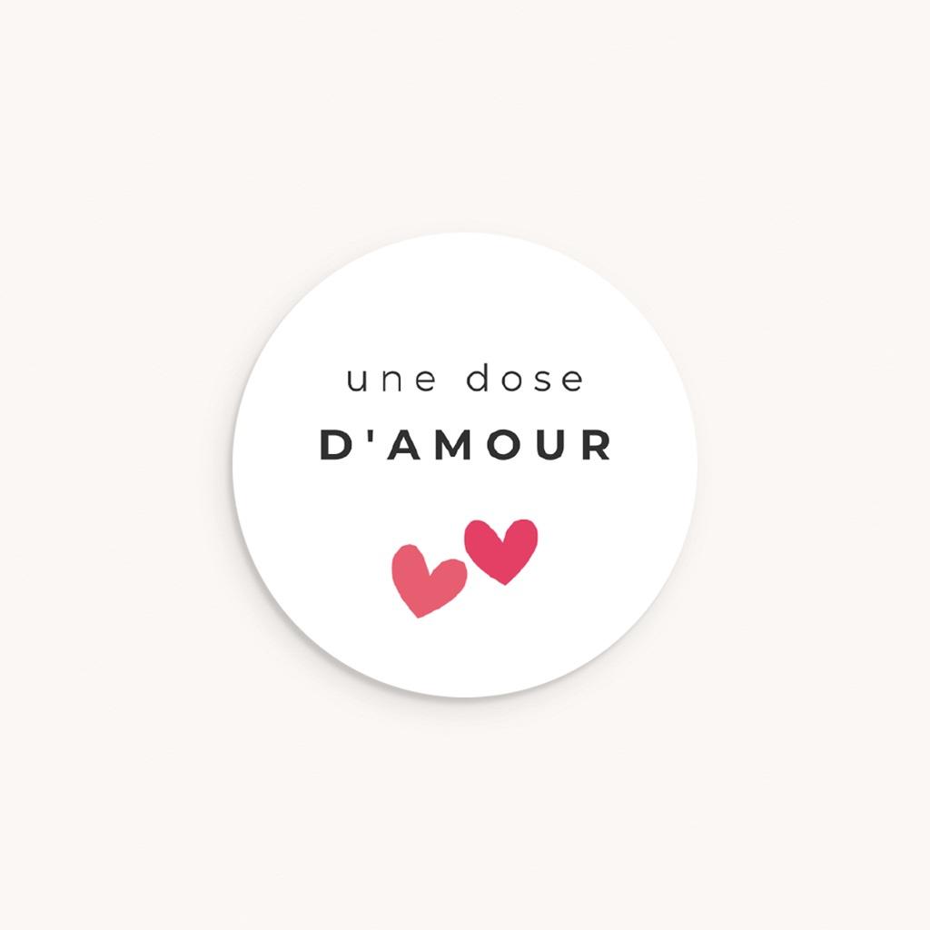 Sticker Enveloppe Naissance Dose d'amour, ø 4,5 cm