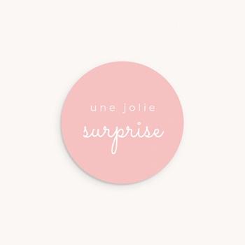 Sticker Enveloppe Naissance Une rose unique,  ø 4,5 cm pas cher