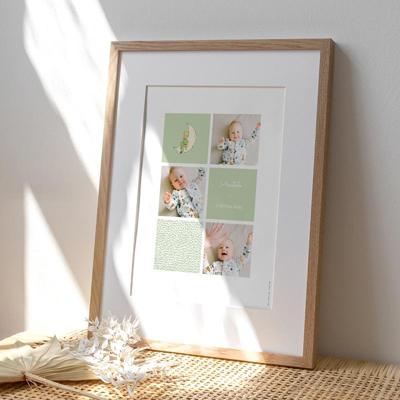 Affiche Déco Chambre Enfant Le Petit Prince décroche la Lune