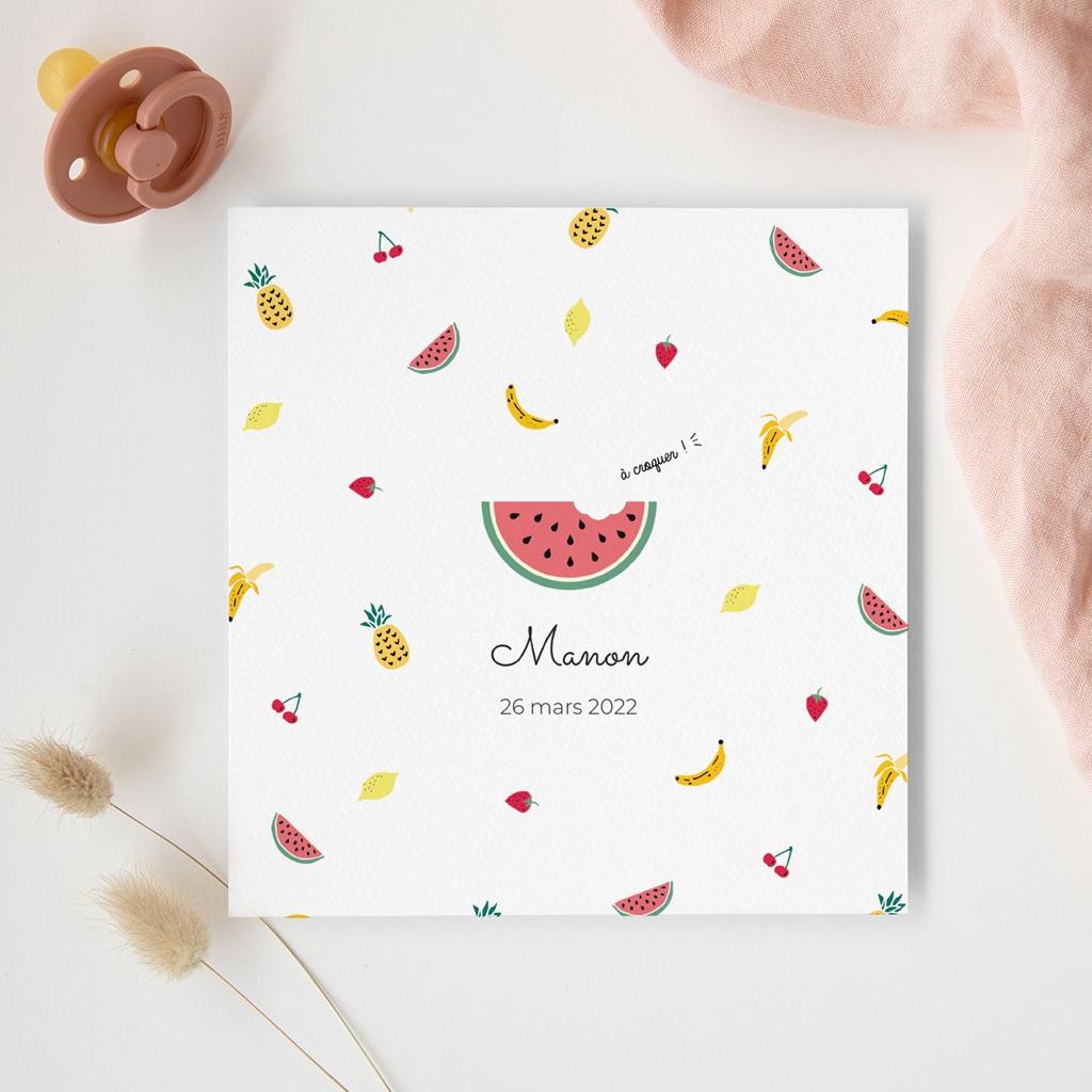 Faire-part de Naissance Tutti Frutti gratuit