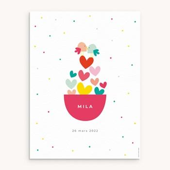 Affiche Déco Chambre Enfant Dose d'amour personnalisé