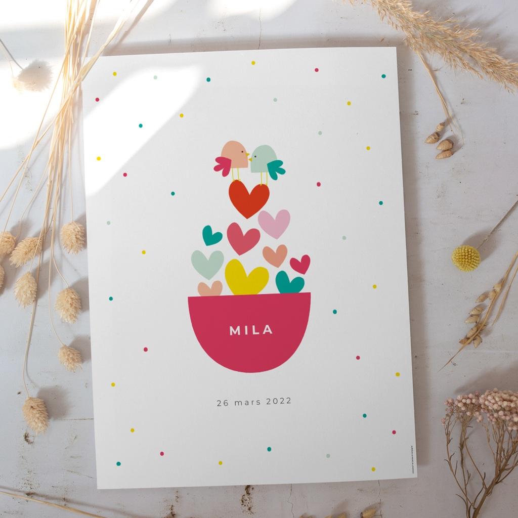 Affiche Déco Chambre Enfant Dose d'amour gratuit