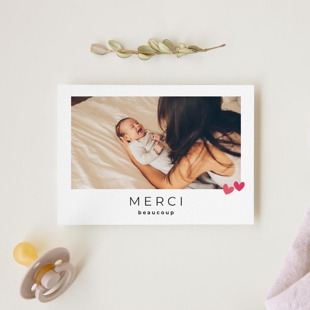 Carte de Remerciement Naissance Dose d'amour gratuit