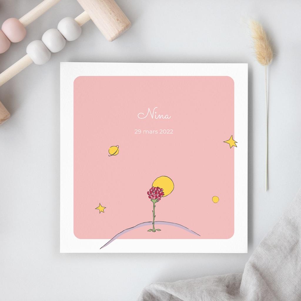 Faire-part de Naissance Une rose unique au monde
