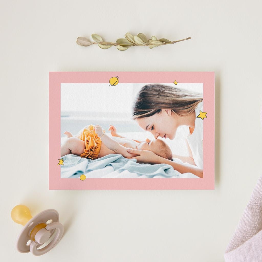 Carte de Remerciement Naissance Une rose unique au monde gratuit
