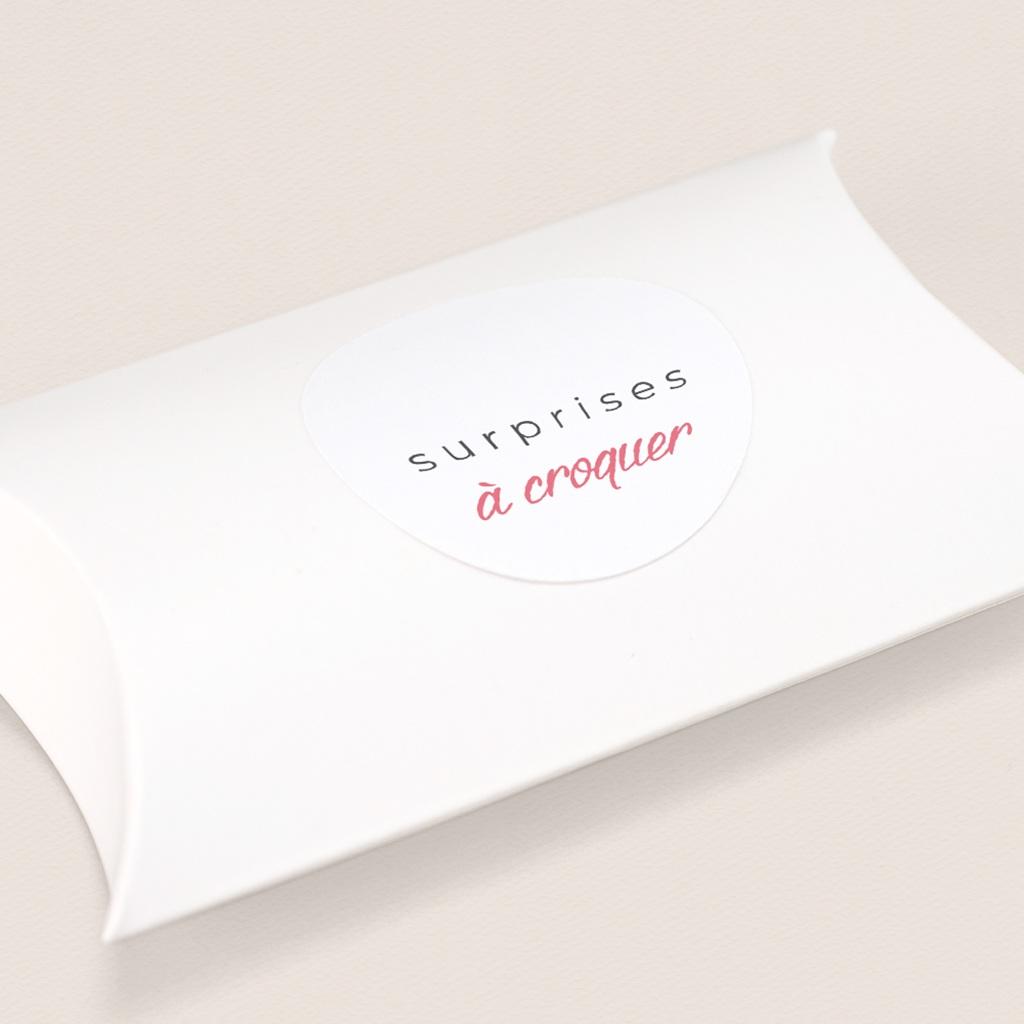 Sticker Enveloppe Naissance 2 Petites cerises