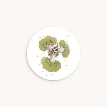 Sticker Enveloppe Naissance Le baobab vert personnalisé