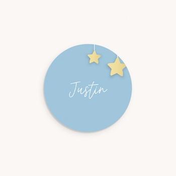 Sticker Enveloppe Naissance Lune et étoiles personnalisé
