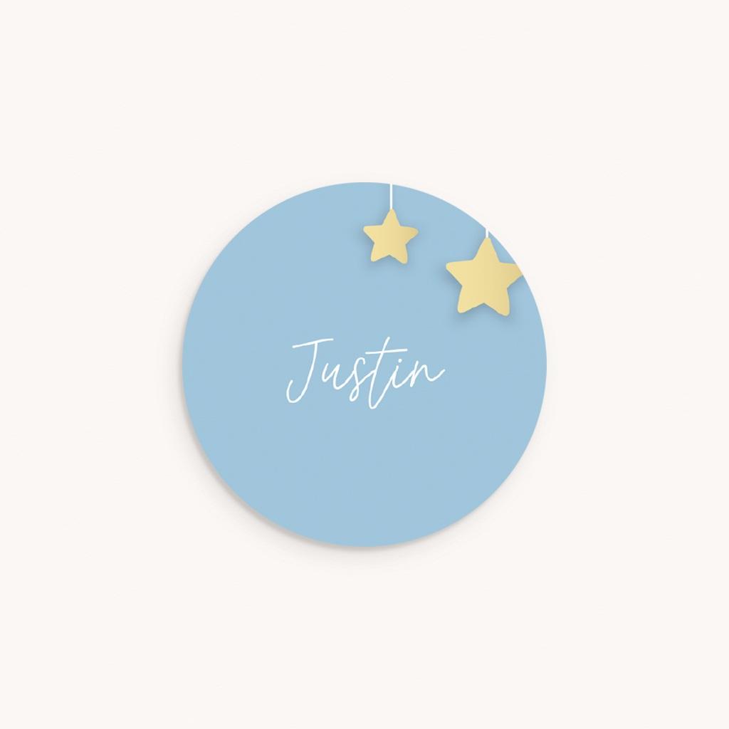 Sticker Enveloppe Naissance Lune et étoiles