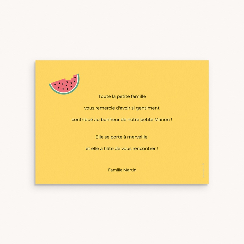 Carte de Remerciement Tutti Frutti pas cher