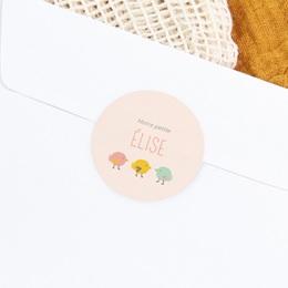 Sticker Enveloppe Naissance Candy gratuit