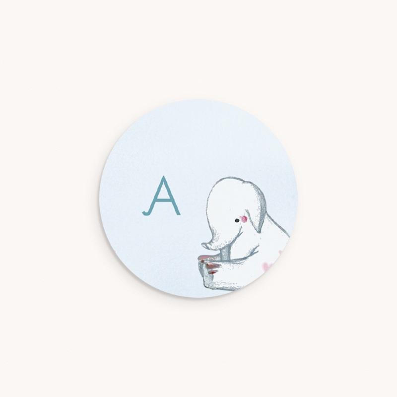 Sticker Enveloppe Naissance Eléphanteau