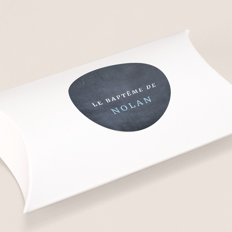 Sticker Enveloppe Baptême Ardoise Garçon