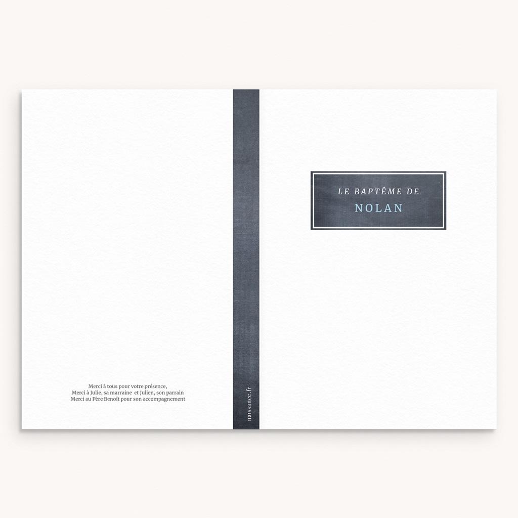 Livret de Messe Baptême Ardoise Garçon