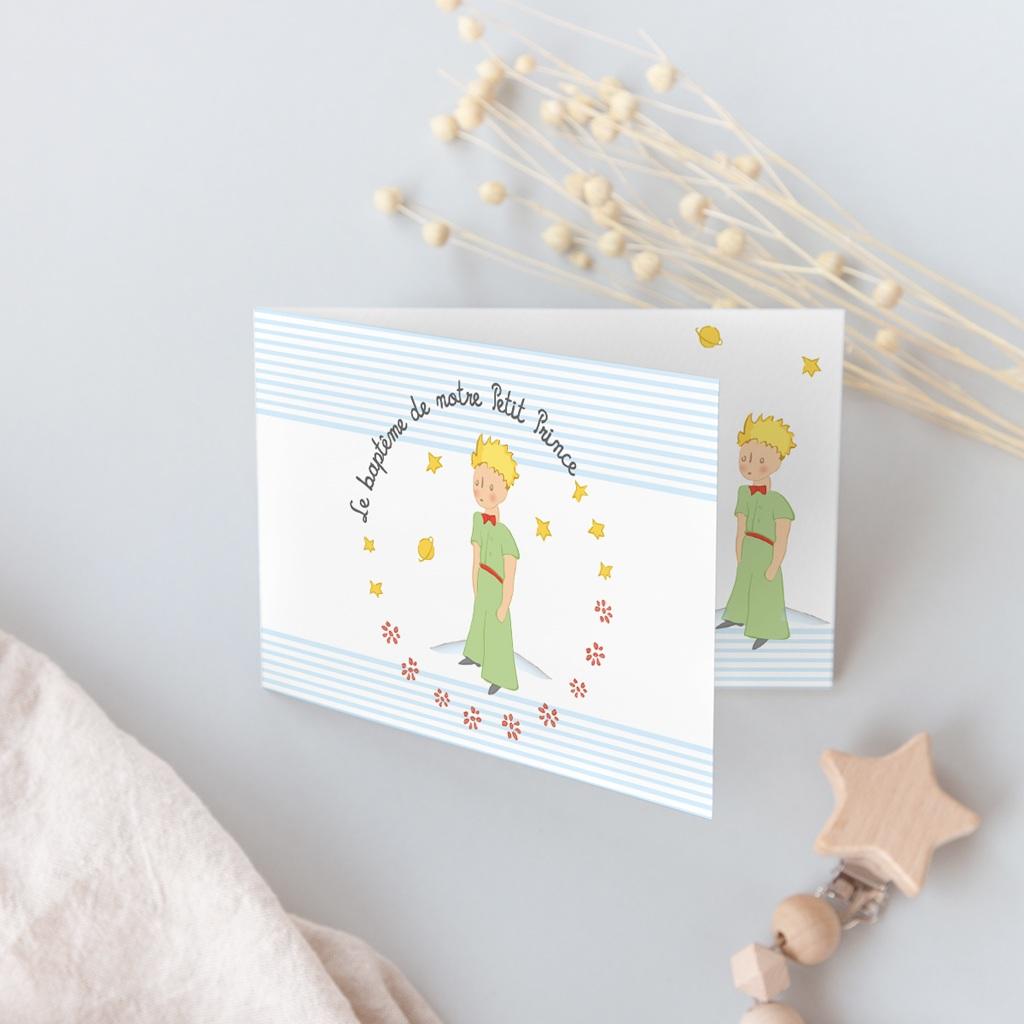 Faire-part de Baptême Le Petit Prince 6 gratuit