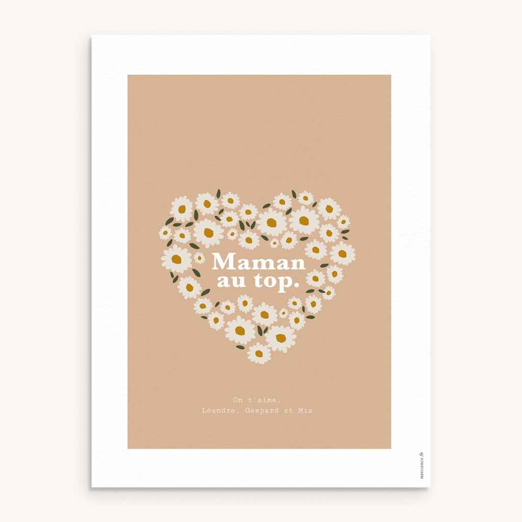 Affiche Déco Original Joli bouquet de Pâquerettes