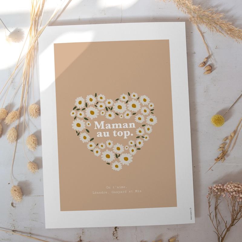Affiche Déco Original Joli bouquet de Pâquerettes gratuit
