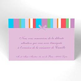 Carte de Remerciement Naissance Câlin