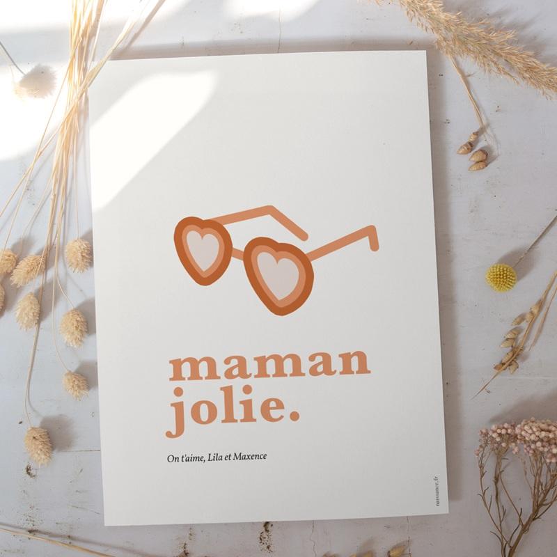 Affiche Déco Original Jolie Maman gratuit