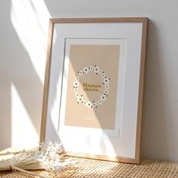 Affiche Déco Original Pâquerettes pour Maman