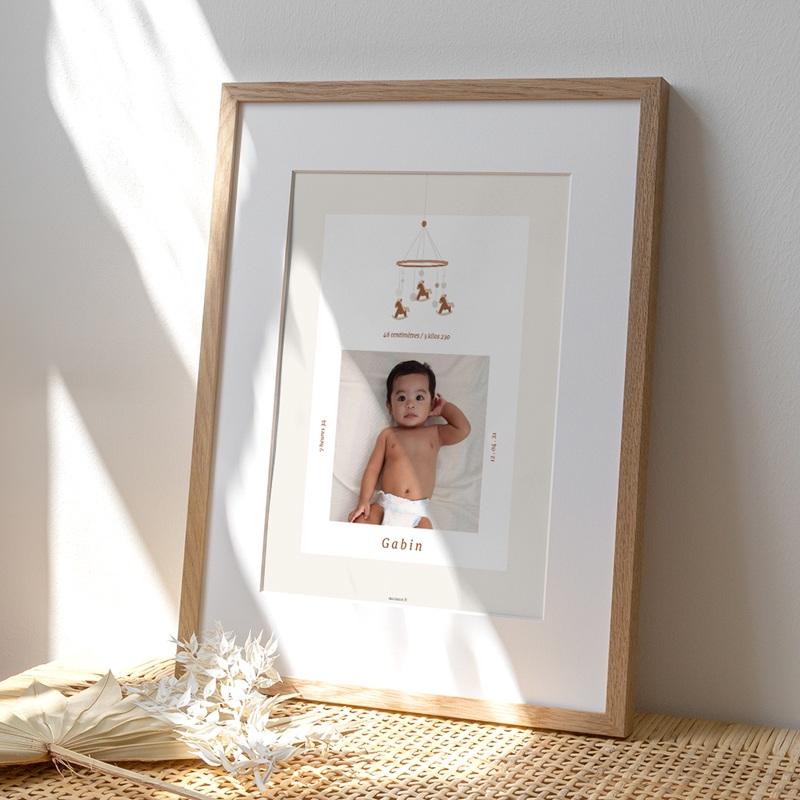 Affiche Déco Chambre Enfant Mobile Chevaux, Portrait, 30 x 40 cm