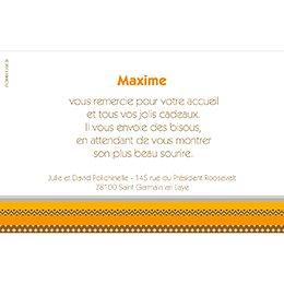 Carte de Remerciement Naissance Kirikou 10 pas cher