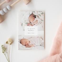 Carte de Remerciement Naissance Multiphotos Jumelles, 10 x 15 cm gratuit