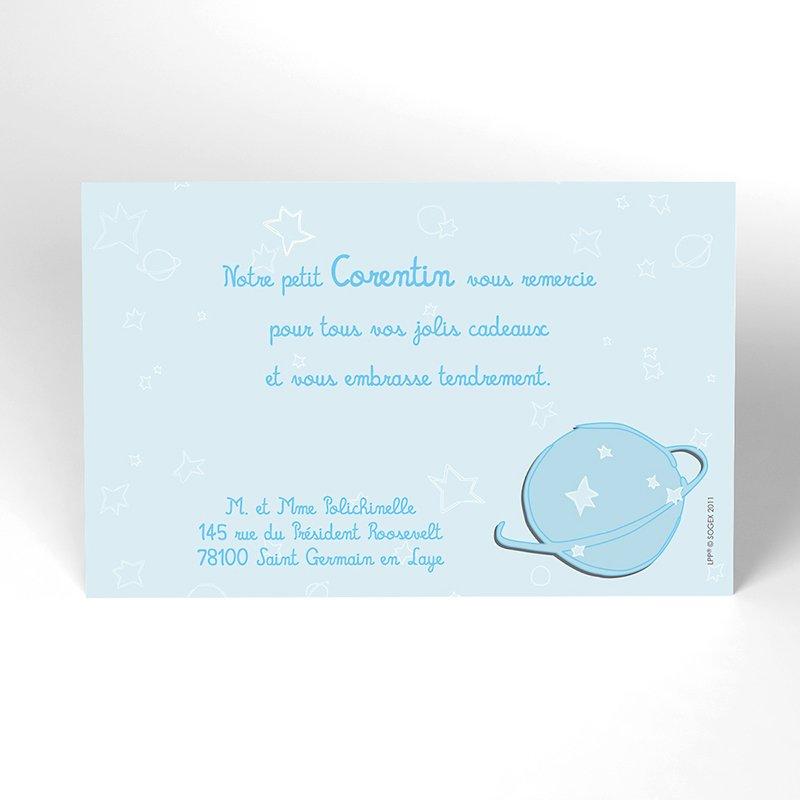 Carte de Remerciement Baptême Le Petit Prince10 baptême