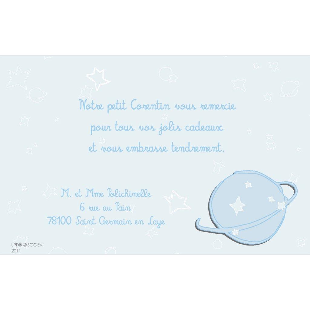 Carte de Remerciement Baptême Le Petit Prince10 baptême pas cher