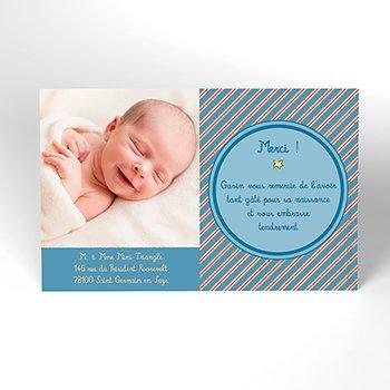 Carte de Remerciement Naissance Le Petit Prince 19 personnalisé