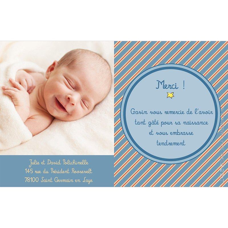 Carte de Remerciement Naissance Le Petit Prince 19 pas cher