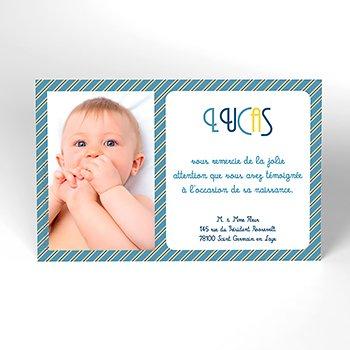 Carte de Remerciement Naissance Petit Mot Petit Prince pas cher