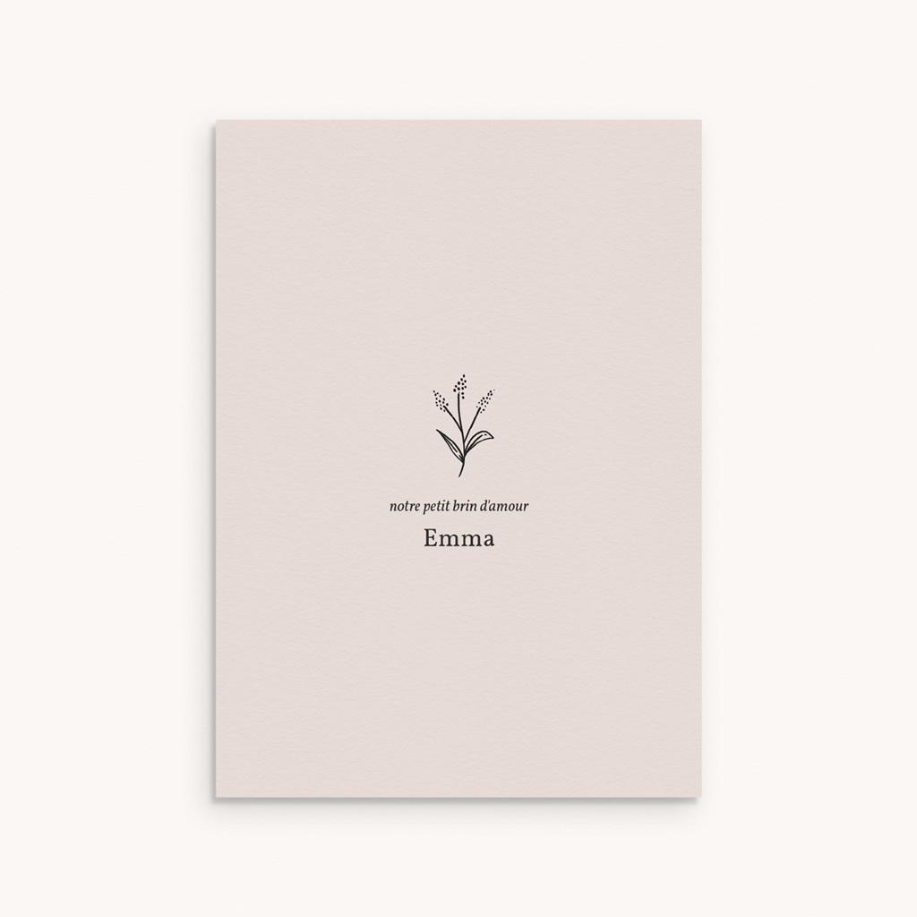 Faire-part de Naissance Brin Floral, poudré
