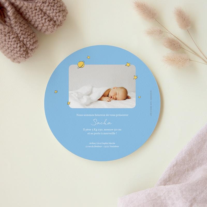 Faire-part de Naissance Le Petit Prince La Planète bleue du Petit Prince, 14 x 14 cm