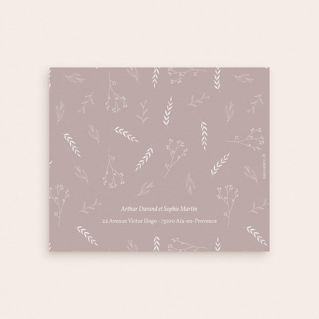 Carte de Remerciement Naissance Champêtre Nude pli-décalé, Jumelles