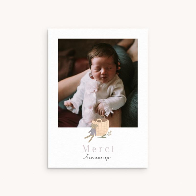 Carte de Remerciement Naissance Petit ourson, Portrait