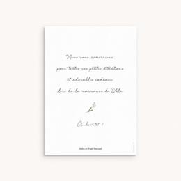 Carte de Remerciement Naissance Petit ourson, Portrait pas cher
