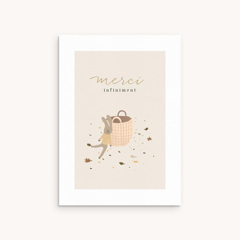 Carte de Remerciement Naissance Petit lapinou