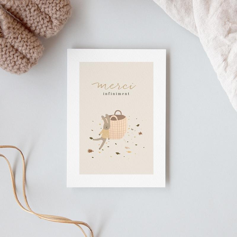 Carte de Remerciement Naissance Petit lapinou gratuit