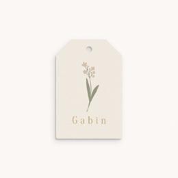 Etiquettes Cadeau Naissance Petit lapinou, fleur de provence