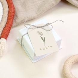 Etiquettes Cadeau Naissance Petit lapinou, fleur de provence gratuit
