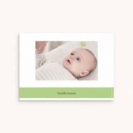 Carte de Remerciement Naissance Chou fleur & Photo pas cher