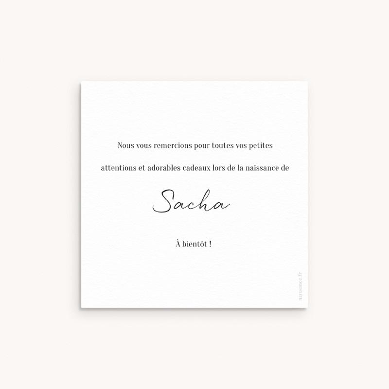 Carte de Remerciement Naissance Cosy bleu, 10 x 10 cm pas cher