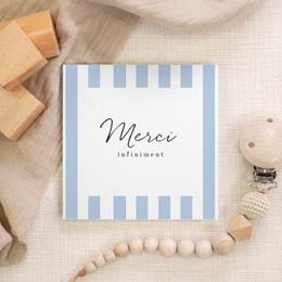 Carte de Remerciement Naissance Cosy bleu, 10 x 10 cm gratuit