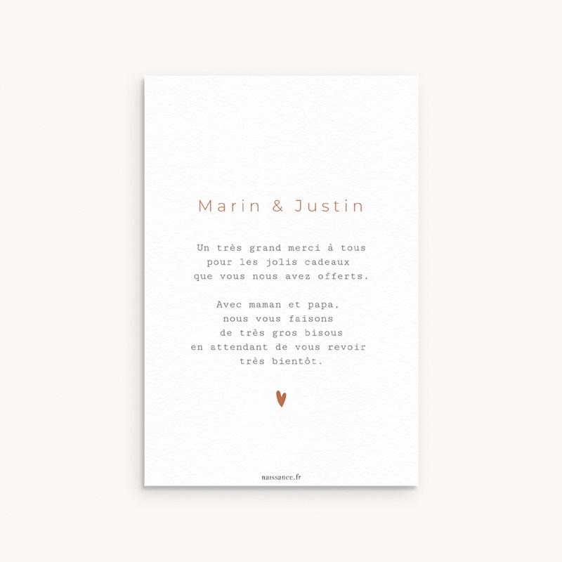 Carte de Remerciement Naissance Multiphotos Jumeaux, 10 x 15 cm pas cher