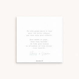 Carte de Remerciement Naissance Jumeaux 10 x 10 pas cher